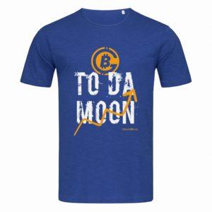 синя биткойн тениска